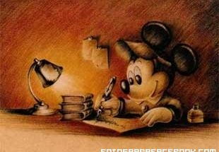 Mickey Mouse antiguo periodista